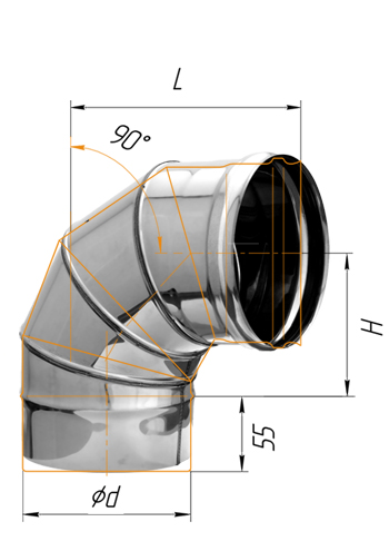 Как сделать колено на трубе