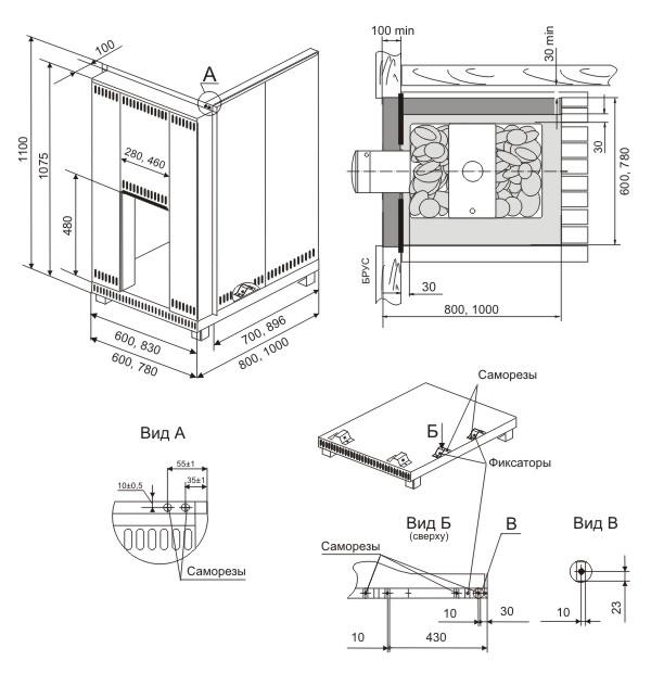 схемы кирпичных банных печей - Нужные схемы и описания для всех.